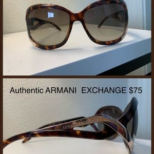 Authentic Brown & Gold Armani Exchange Sunglasses